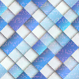 Light blue geometric pattern with matrix elements Stock Photos