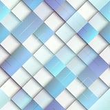 Light blue geometric pattern with matrix elements Stock Image