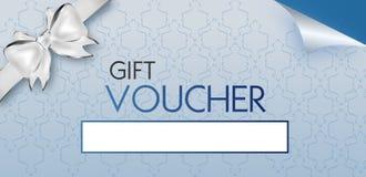 Light blue gift voucher Royalty Free Stock Photos