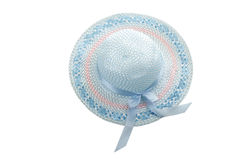 Light blue girlish summer hat Royalty Free Stock Photography