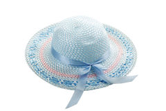 Light blue girlish summer hat Royalty Free Stock Photos
