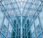 Light blue glass texture. Of transparent skyscrapers Royalty Free Stock Images