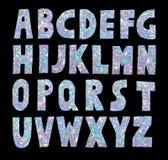 Light blue glitter sparkling font stock illustration