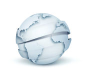 Light blue globe Stock Photos