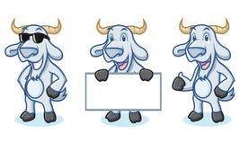 Light Blue Goat Mascot happy Royalty Free Stock Photo