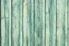 Light blue-green weathered wooden fence Royalty Free Stock Photography