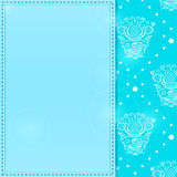 Light Blue Greeting Card with Place for Text Royalty Free Stock Photos