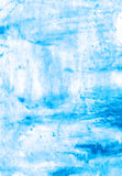 Light blue handmade watercolor illustration Royalty Free Stock Images