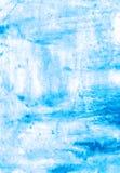 Light blue handmade watercolor illustration Royalty Free Stock Photos