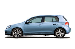 Light-blue hatchback Royalty Free Stock Photo