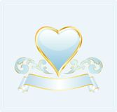 Light blue heart Stock Photos