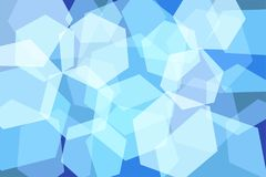 Light Blue Hexagon Abstract Background. Vector Illustration vector illustration