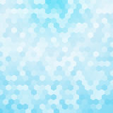 Light blue hexagon background Stock Image