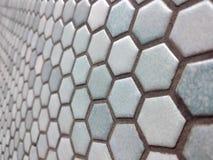 Light blue hexagon pattern royalty free stock image