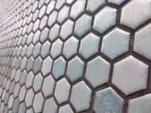 Light blue hexagon pattern royalty free stock images