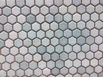 Light blue hexagon pattern royalty free stock photo