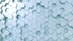 Light blue hexagonal background, 3D rendering. Abstract blue hexagonal background 3D Stock Photography