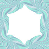 Light blue hexagonal frame Royalty Free Stock Image