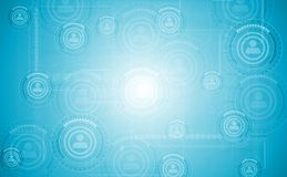 Light blue hi-tech vector background Stock Image