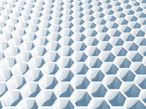 Light blue honeycomb surface. 3d illustration, background texture Royalty Free Stock Image