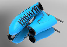 Light blue ice skates Stock Image