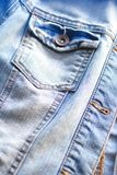 Light blue jeans jacket close up Stock Photography