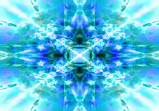 Light blue kaleidoscope background Royalty Free Stock Images