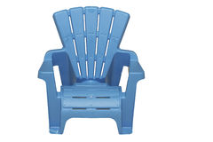 Light Blue Lawn Chair Isolated Stock Images