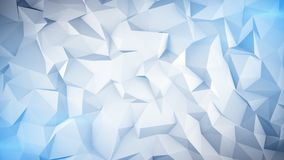 Light blue low poly 3D surface. Light blue low poly surface. Abstract 3D render royalty free illustration