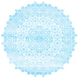 Light Blue Mandala watercolor effect. Vintage. Decorative elements. Hand drawn background. Islam, Arabic, Asian, Indian, ottoman ethic motifs. Round Ornament Stock Image