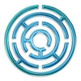 Light blue maze. Isolated on white background stock illustration