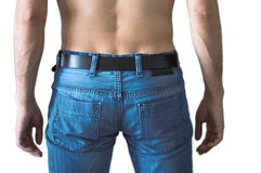 Light Blue Men Jeans Stock Image