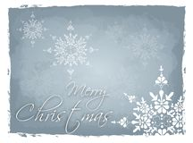 Light blue Merry Christmas background Stock Photography