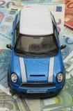 Light blue Mini Cooper car 2013 version Royalty Free Stock Image