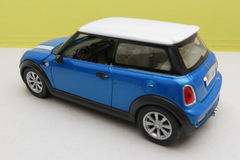 Light blue Mini Cooper car 2013 version Stock Images