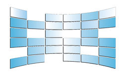 Light  blue monitors - isolated - eps Stock Image