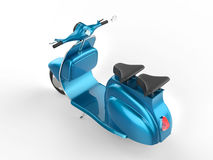 Light blue moped - top back view Royalty Free Stock Photo