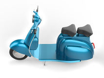 Light blue moped Stock Image