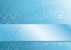 Light blue music abstract background - vector stock illustration
