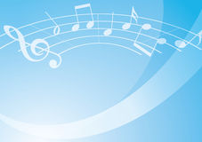 Light blue vector music background with gradient Royalty Free Stock Photo