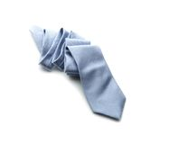Light-blue necktie on a white Royalty Free Stock Image