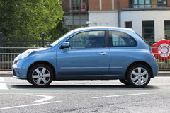 Light blue Nissan Micra Royalty Free Stock Image