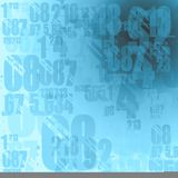 Light blue numbers. Background illustration Stock Image
