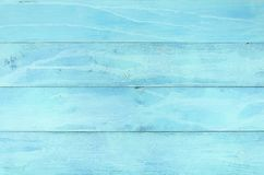 Light blue old wood background table, top view. Rustic wooden wall texture. Surface with old painted wooden pattern.  stock photo