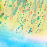 Light blue painted watercolor background Royalty Free Stock Images