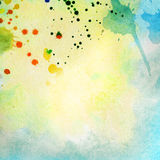 Light blue painted watercolor background Stock Photography
