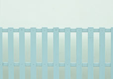 The light blue painted wooden fence Royalty Free Stock Images