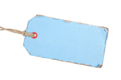 Light Blue Paper Tag Stock Image