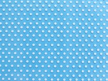 Light blue paper with white dot pattern texture Stock Photo