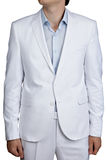 Light Blue Pastel male wedding costume, blazer and pants, isolat Royalty Free Stock Images